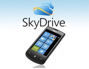 SkyDrive en iPhone