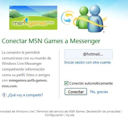 conectar msn games a messenger