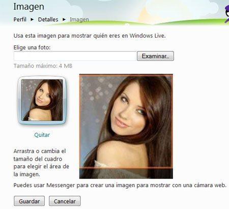 hotmail cambiar la imagen de perfil
