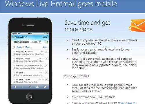 Hotmail movil