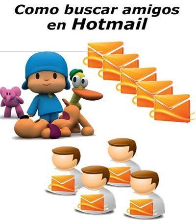 Como buscar contactos en Hotmail