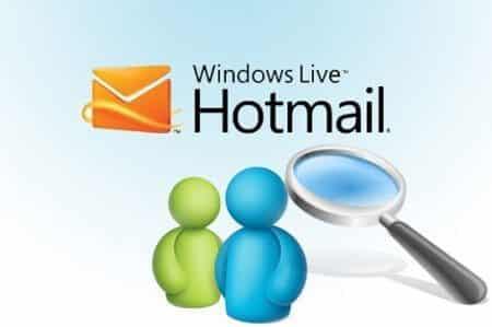 Buscar contactos hotmail