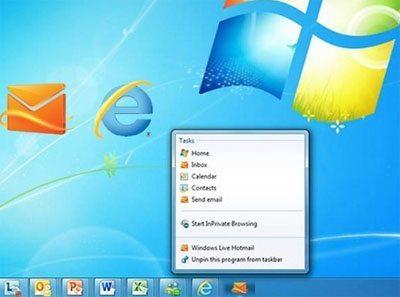 Hotmail en el escritorio
