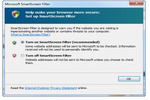 SmartScreen Hotmail