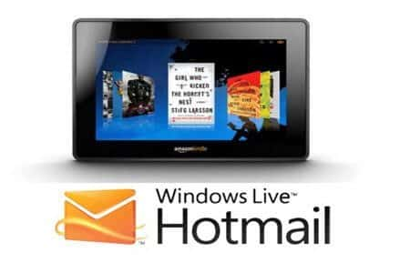 hotmail y su aplicacion para kindle fire