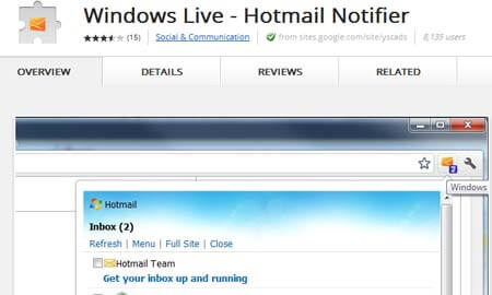 hotmail notifier
