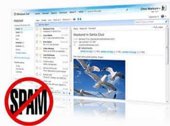 Correo Hotmail a la cabeza en el filtrado de spam