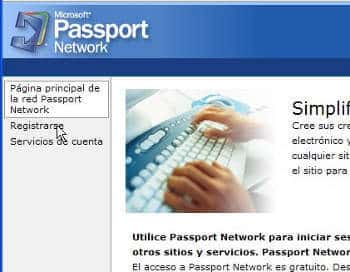 Correo hotmail y su servicio Passport