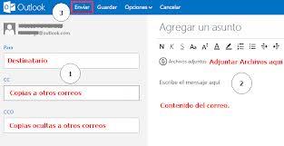 Enviando correos con Outlook de Correo Hotmail