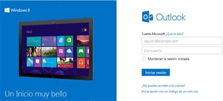 windows 8 y outlook