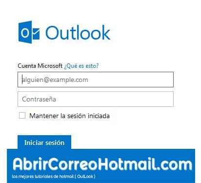iniciar sesion outlook